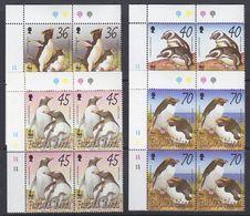 Falkland Islands 2002 WWF/Penguins 4v  Bl Of 4 (corner)   ** Mnh (37728) - Falklandeilanden