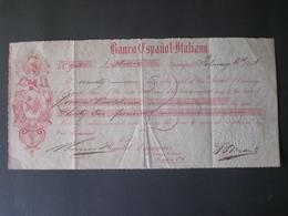 GREAT BRITAIN BRITISH ENGLAND Grande-Bretagne Spanish And Italian Bank Title Checks In London 1903 Document M&G - Cheques & Traveler's Cheques