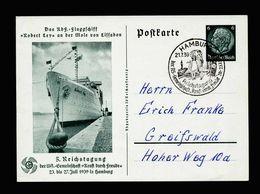 A5174) DR Ganzsache Mi.P240 Mit Sonderstempel Hamburg 21.7.39 - Briefe U. Dokumente