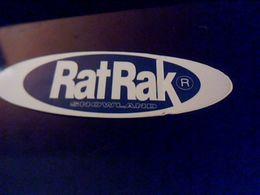 Autocollant Ancien Publicite  Rat Rak Vehicule A Chenille Pour Damage De Piste De Ski Theme Sport D Hiiver .. - Stickers