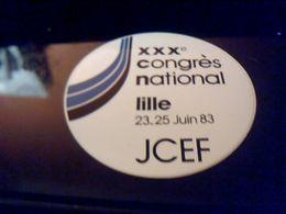 Autocollant Ancien Publicite Slogan JCEF  De Lille 30 Eme Congres National 1983  Theme Enseignement Libre - Stickers