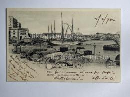 ALGERIA ALGERI ALGER Fisherman Boat Marine CPA Old Postcard - Algeri