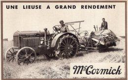 V11848  Cpa Agricultue - Mc Cormick, Une Lieuse A Grand Rendement - Landwirtschaft