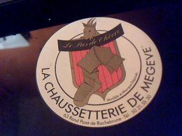 """Autocollant Ancien Publicite Slogan Chaussetterie De Megeve """" Le Pas De Chevre"""" Theme Vestimentaire Armoiries - Stickers"""