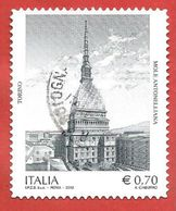 ITALIA REPUBBLICA USATO - 2013 - Patrimonio Artistico E Culturale Italiano - Mole Antonelliana Torino - 0,70 € - S. 3449 - 6. 1946-.. Republic