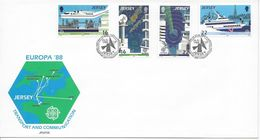 Jersey FDC 435 - 438 Mix Set Stamps Of île D'homme Isola Di Man Isla Del Hombre Small Selection Used 1186 - Jersey