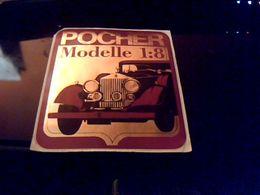 Autocollant Ancien Publicite Modelle Reduit De Voitures POCHER Modelle 1.8 - Stickers