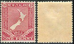 NEW ZEALAND 1924 1d. Carmine, Restoration Of Penny Postage, VF MLH, SG 461 - 1907-1947 Dominion
