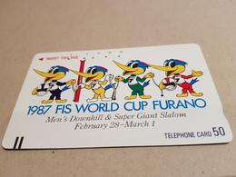 Ancienne Telecarte Japon - Balkenkarte / Front Bar Card Japan / Japonese Comic FIS World Cup Furano -110-17337 - Japan