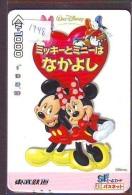 Carte Prépayée Japon * DISNEY  (1748) MICKEY & MINNIE * 1000 YEN  * JAPAN PREPAID CARD - Disney