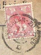 NEDERLAND Treinstempel Grootrond Amsterdam-Zutphen D Op Brief 1902 - Postal History