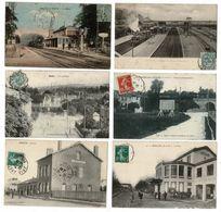 46 CP TRAINS à NOISYleSEC_ESBLY_AILLY/NOYE_VILLIERS/MARNE.Sans Train BRETEUIL_CHELLES. Détails Dans Description. N°034 - Postcards