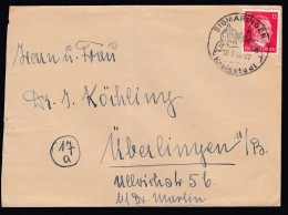DR Sehr Später Brief 18.03.1945 Sonderstempel Sigmaringen Nach Überlingen K1442 - Briefe U. Dokumente