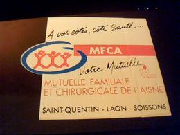 Autocollant Ancien Publicite MRCA Mutuelle Famlliale Et Chirurgicale De L Aisne St Quentin Soisson Laon - Stickers