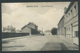 Brugelette. Place De La Gare. Station.  Voir Belle Oblitèration Au Dos. - Brugelette