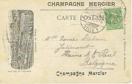 Champagne Mercier Château De Pékin Avec Jeune Fille Dans Un Médaillon Au Dos - Commerce