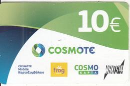 GREECE - Cosmote Prepaid Card 10 Euro, Exp.date 22/11/18, Used - Greece