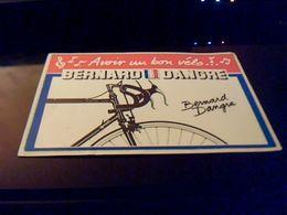 Autocollant Ancien Publicite Velo BERNARD DANGRE - Stickers