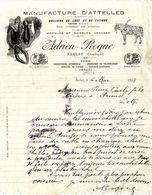 24  SARLAT  MANUFACTURE D ATTELLES  ADRIEN ROQUES  -   LETTRE  COMMERCIALE 1923 - Old Professions