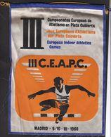 Athletics / Flag, Pennant / 3rd European Indoor Athletics Games / Madrid, Spain, 1968 - Athletics