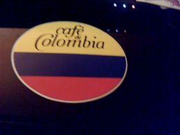 Autocollant Ancien Publicite Café  CAFE DE COLOMBIA - Stickers