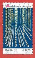 ITALIA REPUBBLICA USATO - 2013 - 50º Anniversario Della Nascita Di Adnkronos - € 0,70 - S. 3452 - 6. 1946-.. Repubblica