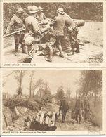 ARMEE BELGE -  RAVITAILLEMENT EN 2ème LIGNE - MORTIERS - TWEE KAARTEN - Guerre 1914-18