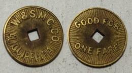 GETTONE TOKEN JETON TRANSIT U.S.A. ALIQUIPPA - Monetary/Of Necessity