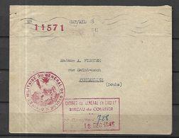 Enveloppe Du 18 Décembre 1945  Du  Cabinet  Militaire Du Général DE GAULLE - Postmark Collection (Covers)
