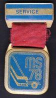 Ice Hockey / Sport / Pin, Badge, Badges / World Championship Prague 1978, Czechoslovakia - Sport Invernali