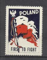 5978-RARA VIÑETA 2ª GUERRA MUNDIAL 1943 CONTRA OCUPACION NAZI,OCUPACION ALEMANIA EN POLONIA GENERAL GOUVERNAMENT,PIDIEND - 1939-44: World War Two