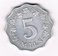 5 MILS 1972  MALTA /1067G/ - Malta