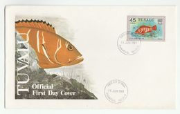 1981 TUVALU  FDC  Stamps COD FISH Cover - Fishes