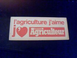 """Autocollant  Publicite Journal Agriculture """" Le Nouvel Ariculteur"""" - Stickers"""