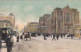 Vintage Postcard; Australia; Swanston Street. St Pauls. Melbourne. C1940? - Melbourne