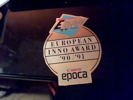 Autocollant  Publicite Concours Photographie Euroean Inno Award 1990/91 Pub Canon Epoca - Stickers