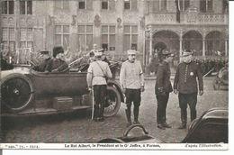 ARMEE BELGE 1914-1918 - ROI ALBERT LE PRESIDENT ET JOFFRE - FURNES - Guerre 1914-18