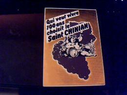 Autocollant  Publicite Vin  Saint Chinian Theme Vinoble Bachus - Stickers