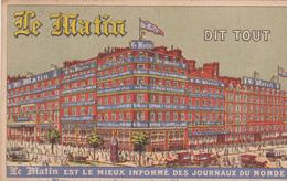 """75. PARIS. GRANDS BOULEVARDS.  PUBLICITE DE PRESSE.  JOURNAL """" LE MATIN """" . ANNEE 1908 - Autres"""