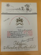 6705 - Château Mouton Rothschild 1950 Dessin Inédit De Arnulf Spécimen - Bordeaux