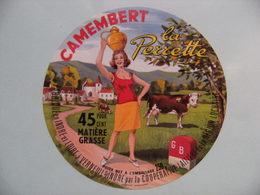 Etiquette Camembert - La Perrette - Coopérative Laitière Région Lochoise 37 - Indre&Loire  A Voir ! - Cheese