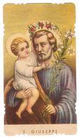 NO69   Santino, Holy Card - S. Giuseppe - Images Religieuses
