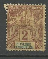 ST PIERRE ET MIQUELON N° 60 NEUF* CHARNIERE  / MH - St.Pierre & Miquelon