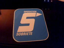 Autocollant  Publicite Association Antialcoolisme  S  Operation  Sobriete - Stickers