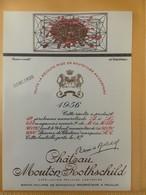 6711 - Château Mouton Rothschild 1956 Dessin Inédit De Tchelitchew Spécimen - Bordeaux