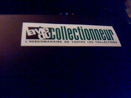 Autocollant  Publicite Journal La Vie Du Collectionneur - Stickers