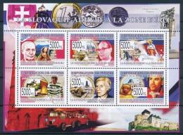D- [400277] **/Mnh-Guinée 2009 - BL4119/4124, La Slovaquie Adhère A La Zone Euro - Célébrités