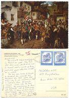 Austria 1987 Postcard Art Painting F.v. Defregger, Innsbruck To U.S., Scott 963 - Paintings