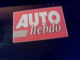 Autocollant  Publicite Magasine Auto Hebdo - Stickers