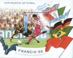 Cuba 1998 World Cup Football Soccer Championship Used Cancelled M/Sheet (U-29) - World Cup